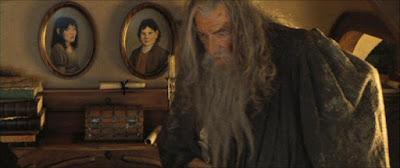 Gandalf y los padres de Bilbo Bolsón