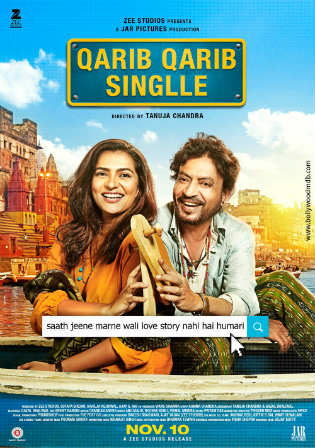 Qarib Qarib Singlle 2017 DVDRip 350MB Hindi 480p Watch Online Full Movie Download bolly4u