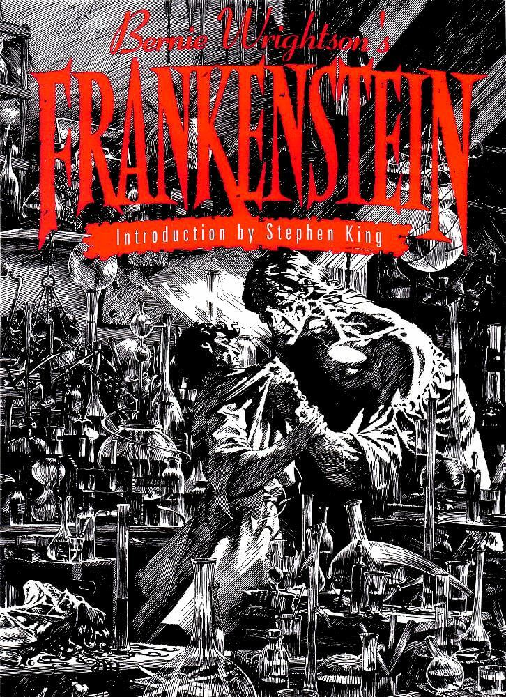 cover - read online bernie wrightson frankenstein comic