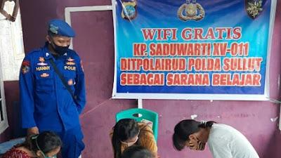 Polairud Polda Sulut Sediakan Sarana Hospot Wifi Gratis
