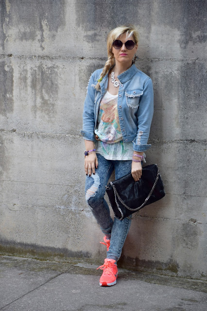 sneakers outfit how to wear sneakers sneakers street style fashion bloggers italy italian fashion bloggers color block by felym mariafelicia magno may outfit