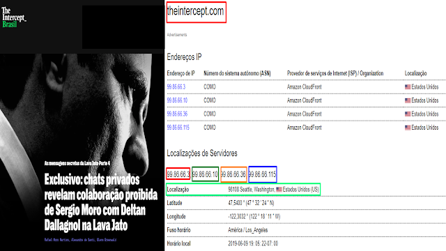 BOMBA: Site suspeito de estar envolvido com hackers que roubaram dados da Lava Jato tem IPs e servidores localizados nos EUA