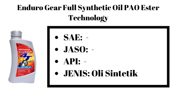 Enduro Gear Full Synthetic Oil