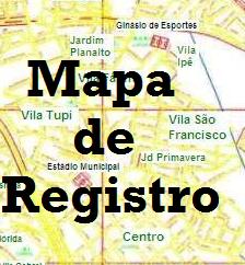 Clique no mapa e vejas as ruas de Registro