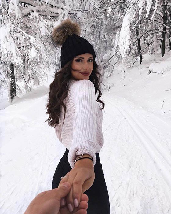 foto tumblr con nieve pareja
