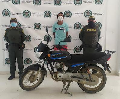 hoyennoticia.com, Se robó una moto en Riohacha y lo pillaron por Cuestecitas