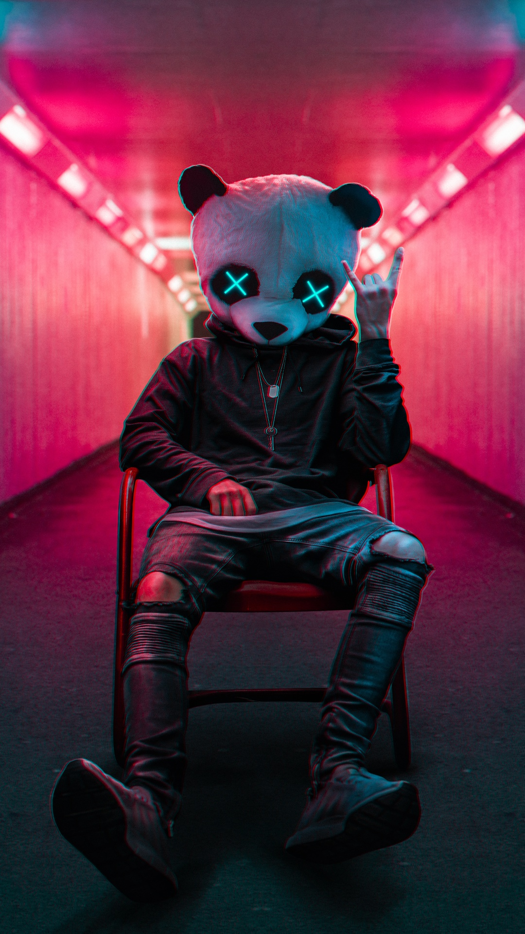 Rockstar Panda Mask
