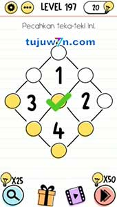 level 197 brain test pecahkan teka-teki ini