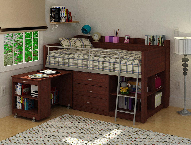 Kids Loft Bed With Workstation Desk Underneath