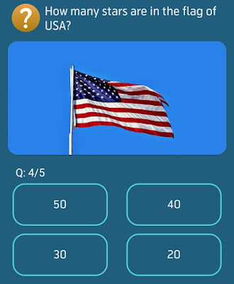 How many stars are in the flag of USA?