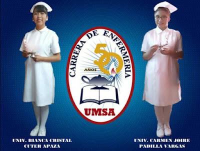 Estudiantes universitarias de enfermería de la UMSA