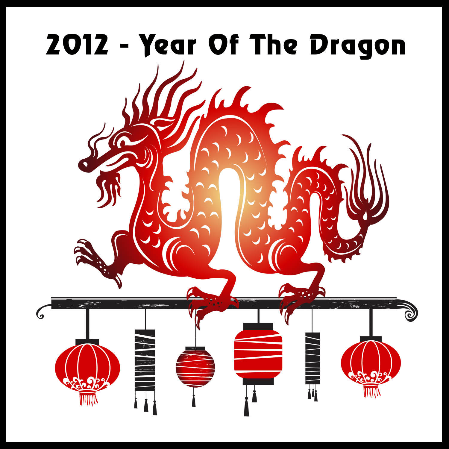 happy chinese new year 2012. 1500 x 1500.Chinese New Year Symbols Clip Art