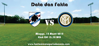 Data dan Fakta Liga Fantasia Serie A Gio 29 Sampdoria vs Inter Fantasi manager Indonesia