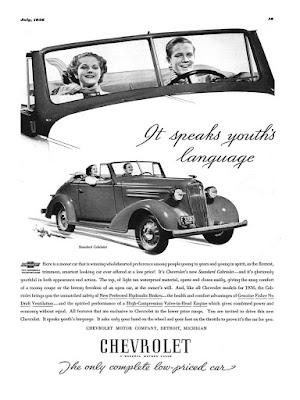 Chevrolet - It speaks youth's language