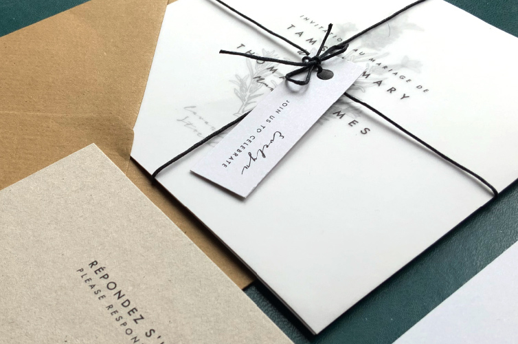 Minimalist Wedding Invites - Alfie's Studio