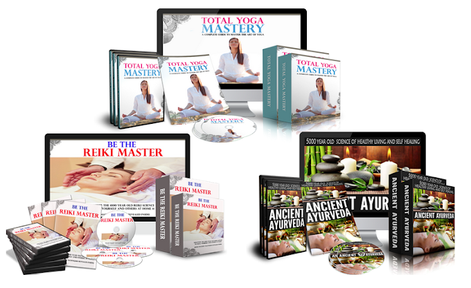 Total yoga mastery PLR Ancient Ayurveda PLR - Natural home remedies and diet Be The Reiki Master PLR