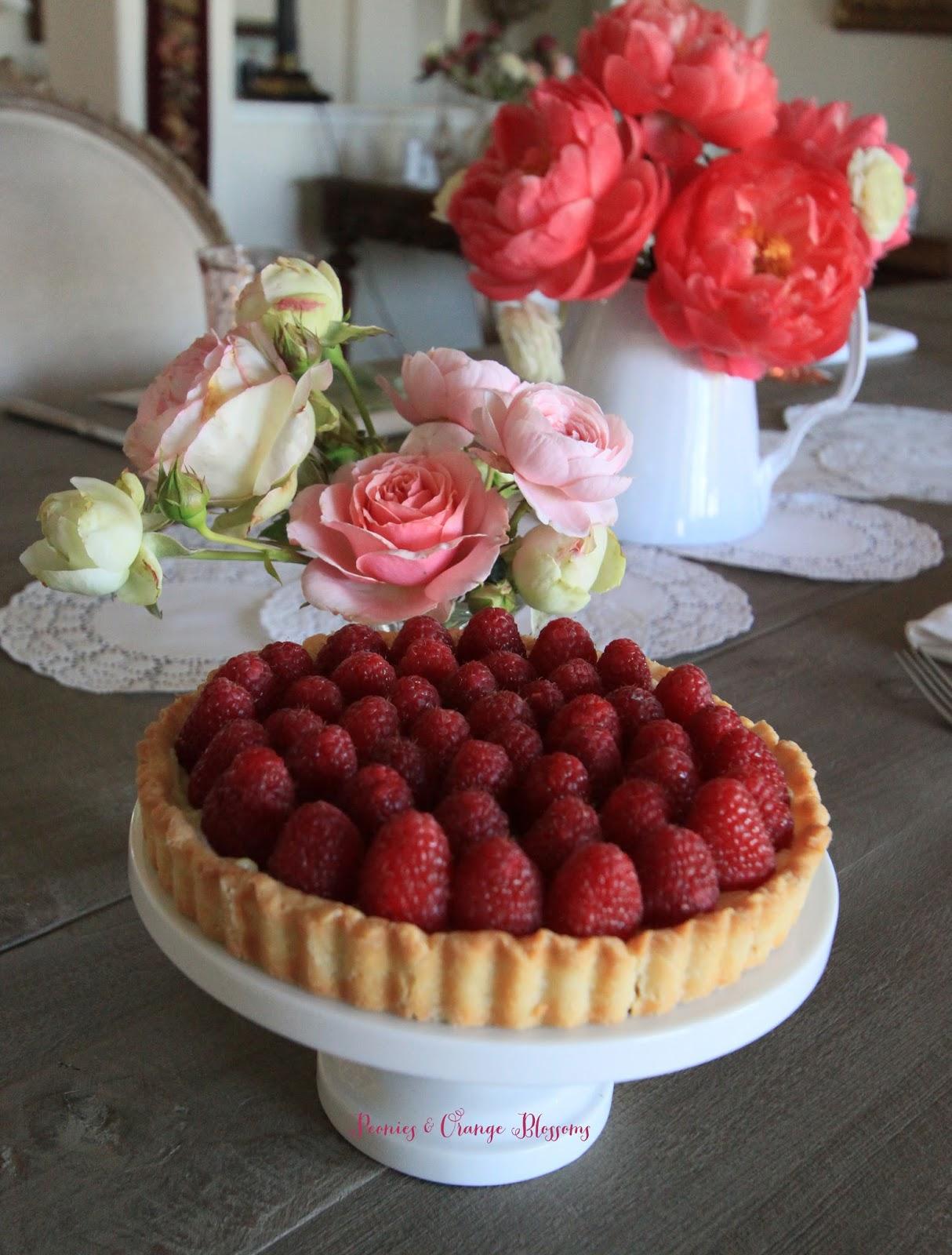 Raspberry Rose French Tart Recipe