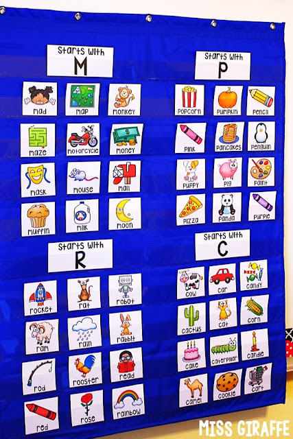 Alphabet sorting activities kids love because the pictures are so fun and are words they actually know