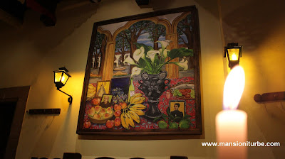 Pintura de Soledad Tafolla Levorini en Restaurante Doña Paca de Mansion Iturbe en Patzcuaro