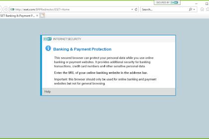 Transaki Online Aman Dengan ESET Banking Payment Protection
