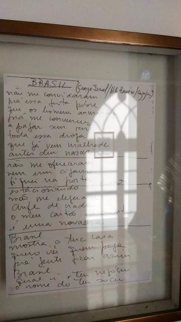 Letra da música escrita pelo próprio Cazuza