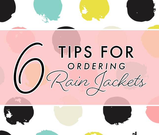 info you need for ordering monogrammed rain jackets