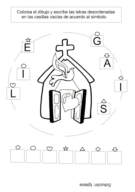 PARA COLOREAR: Iglesia