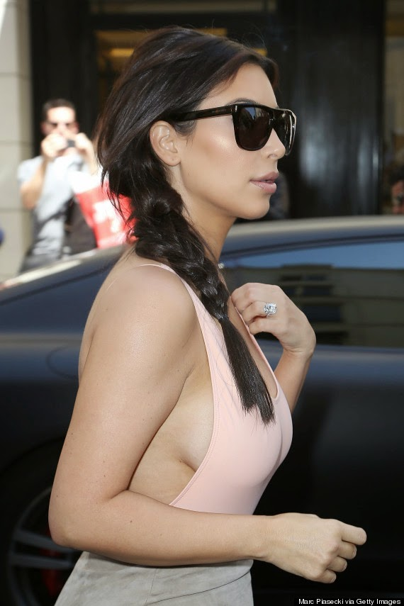 Kim Kardashian Latest Sexy Hot pictures dress paris 2014