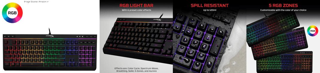 HyperX Alloy HX-KB5ME2-US Gaming Membrane Keyboard (Black)