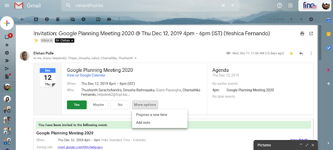Propose a new meeting time or add a note to Calendar invites from Gmail