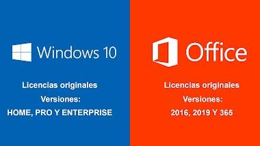 Licencias originales para Windows 10 y Office varias versiones