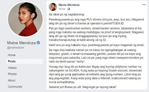 How to get ₱1,000 peso donation from Maine Mendoza via G Cash?