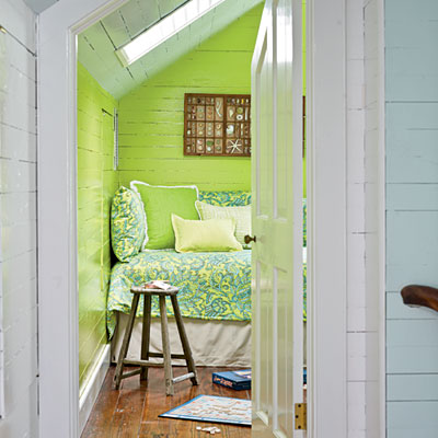 key west cottage in green