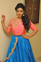 Nithya Shetty in Orange Choli at Kalamandir Foundation 7th anniversary Celebrations ~  Actress Galleries 038.JPG