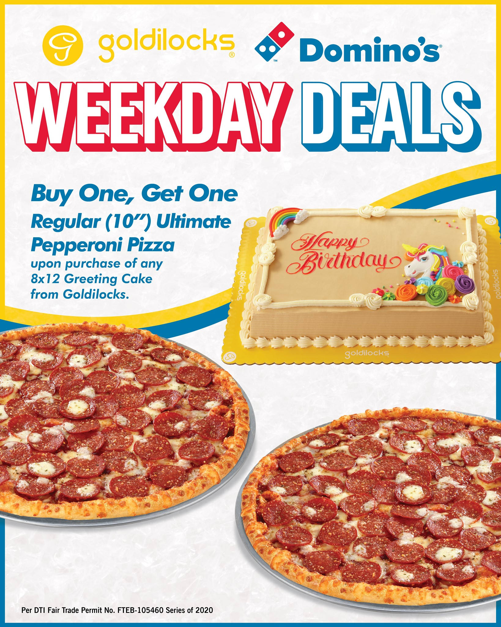 Manila Shopper Goldilocks X Domino S Pizza Weekday Deals Oct 2020