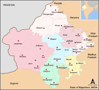 Rajasthan Ka Samanya Parichay, राजस्थान की स्थिति विस्तार आकृति एवं भौतिक स्वरूप, राजस्थान का अक्षांशीय व देशांतरीय विस्तार