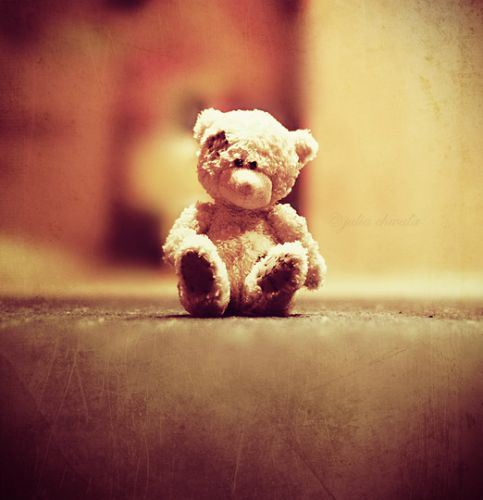 Sad Teddy Bear Sitting Lonely Alone In Roomjpeg