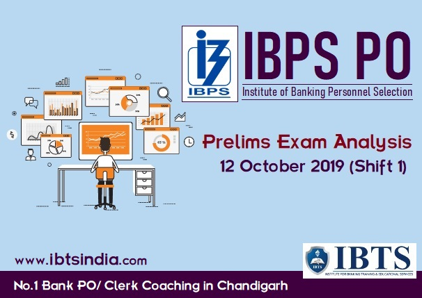 IBPS PO 2019 Prelims Exam Analysis: 12 October 2019 (Shift 1)