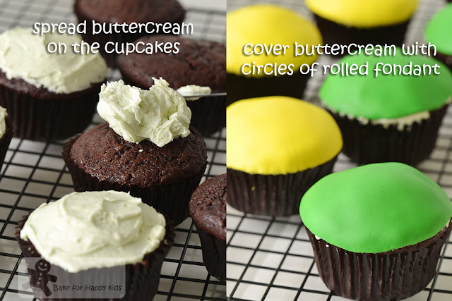 Bake for Happy Kids: Cut the Rope Om Nom Chocolate Mint Cupcakes