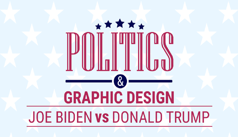 Politics & Graphic Design: What Do Biden and Trump Campaigns Tell Us #infographic