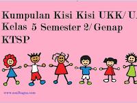 Kisi Kisi UKK/ UAS Kelas 5 SD/ MI Semester 2/ Genap