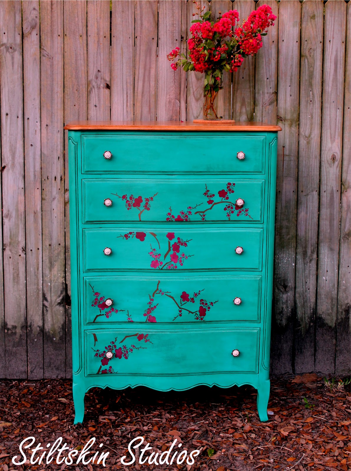 Makemeprettyagain Cherry Blossom Tall Dresser