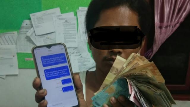 Jual Togel Gondrong ditangkap Tim Opsnal Reskrim Polsek Dolok Masihul