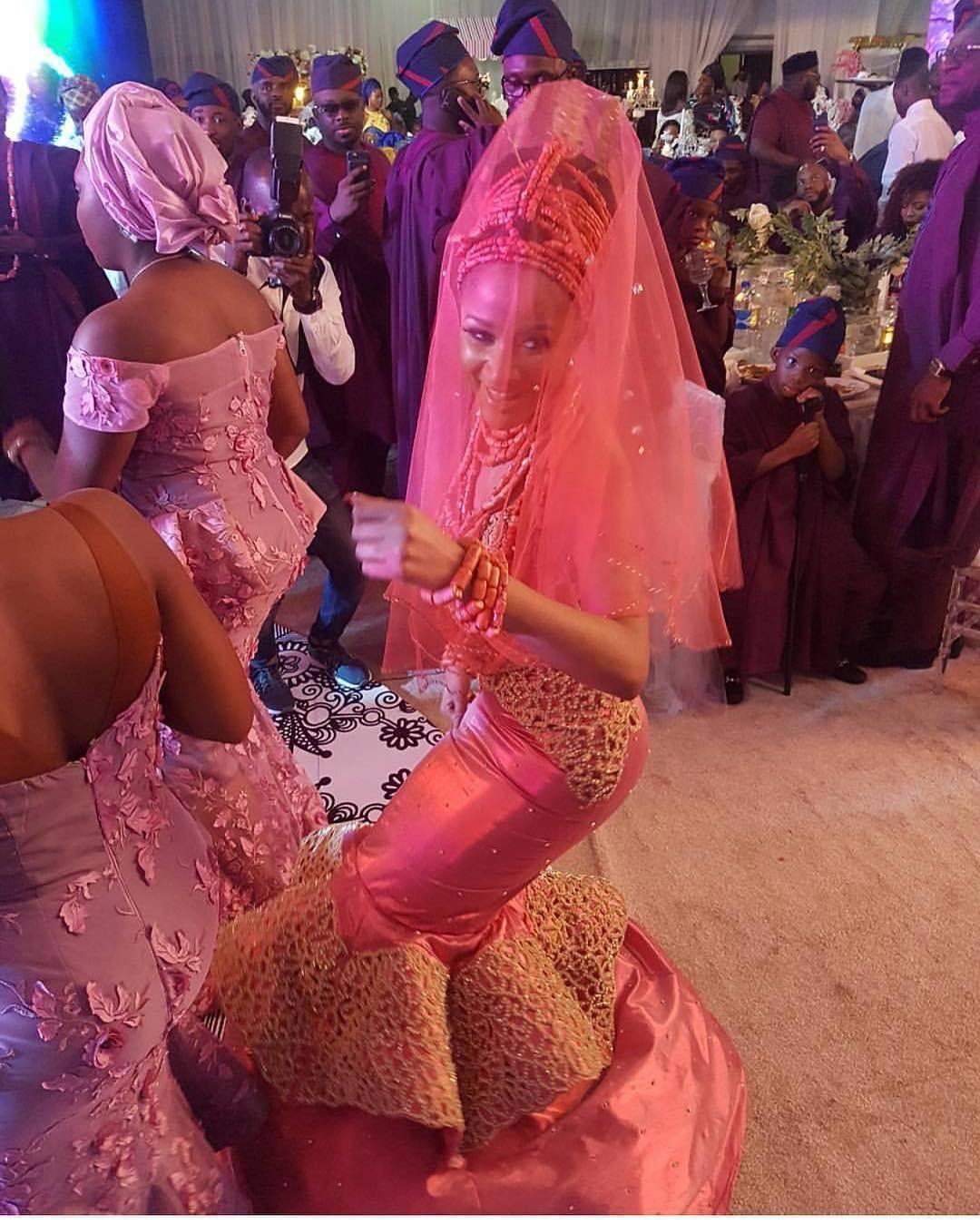 Checkout Adesua Etomi In Her Wedding Regalia [Photos]