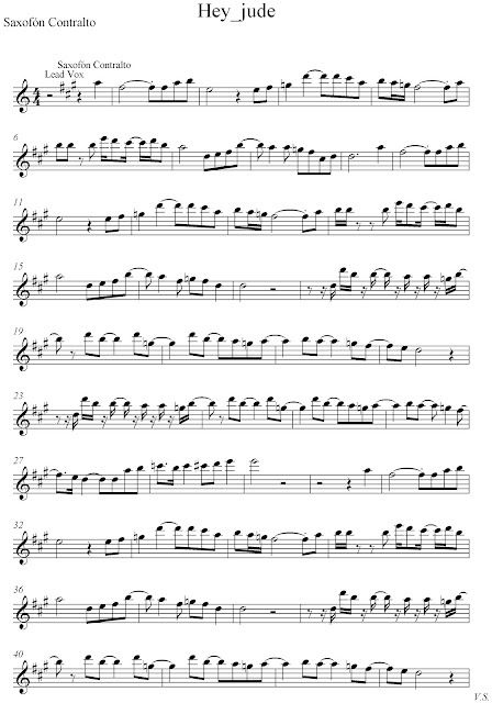 Hey Jude - The Beatles score and track (Sheet music free and ...