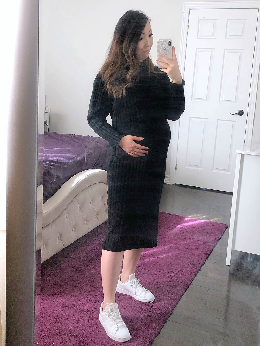 How to Look Stylish During Pregnancy - sweater dress