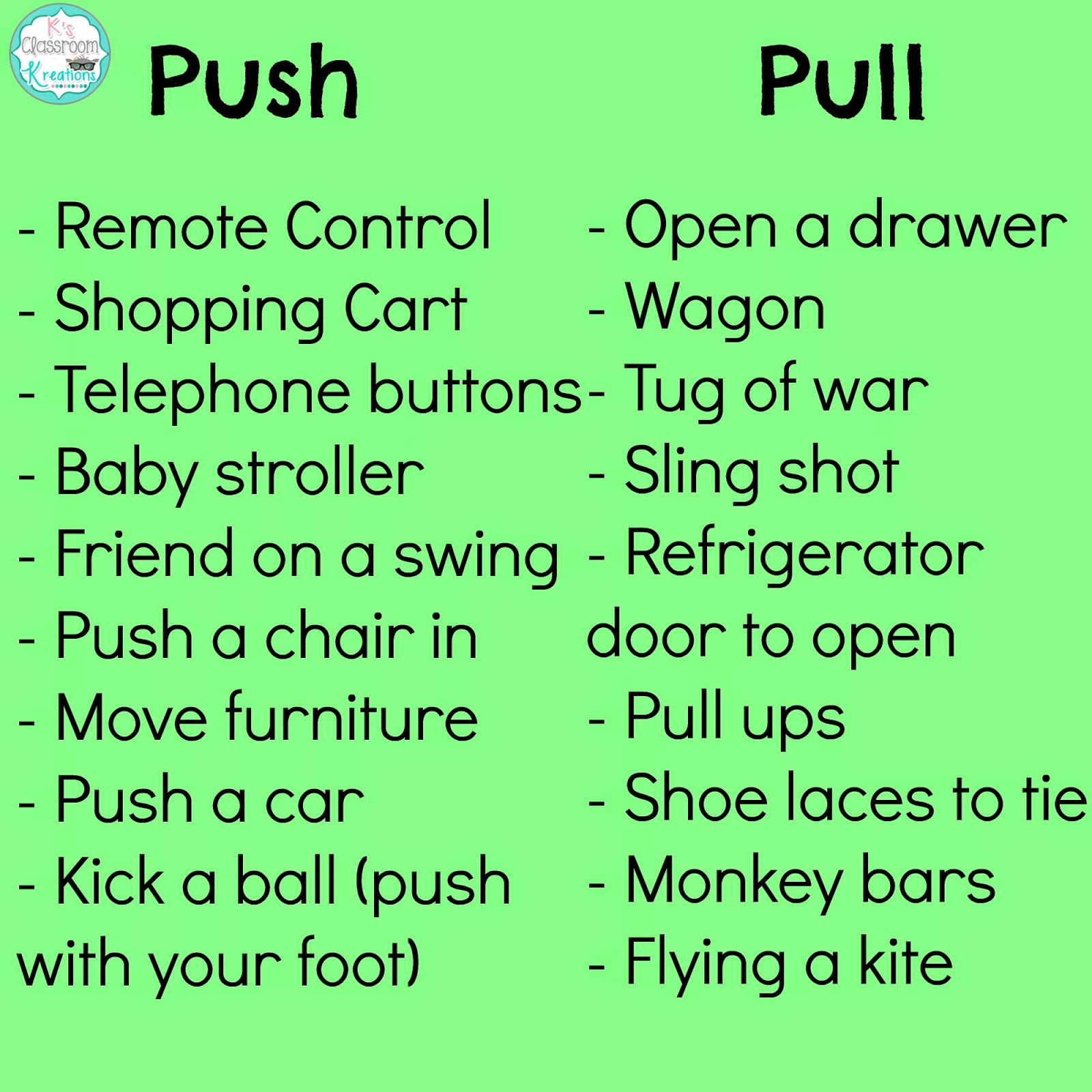 Examples of Push Pull