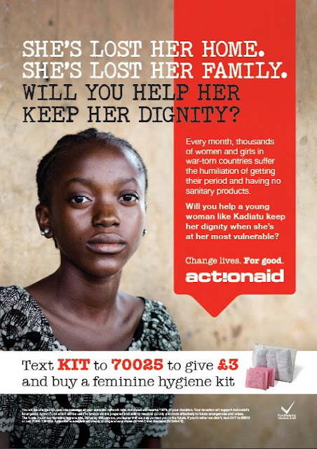 Worst Period of Her Life - Action Aid - Poster - women in need - periods - sanitary products - help - young women