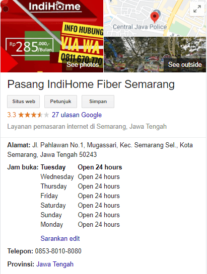 call center indihome semarang
