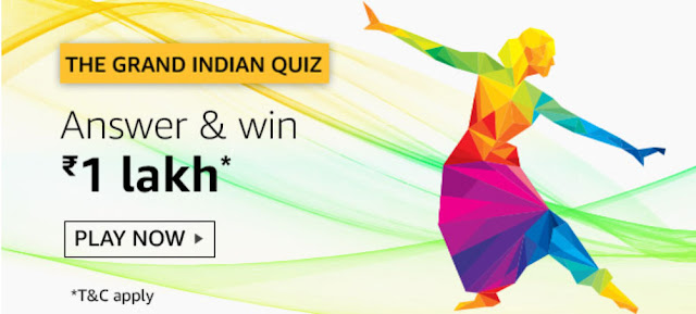 Amazon Quiz Answers Today 13 September 2019 – Win JBL Boom